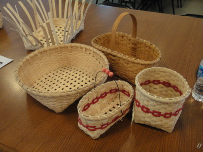 variety of baskets made in classes